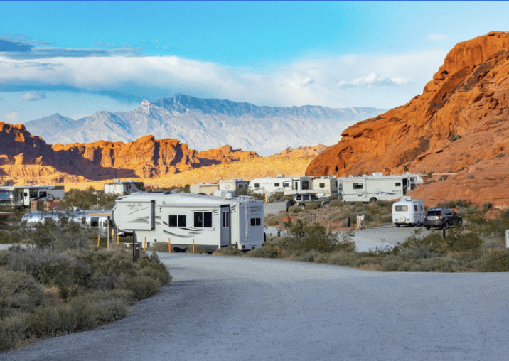 Atlatl Rock Campground  is a great place to stay when visiting Valley of Fire State Park.