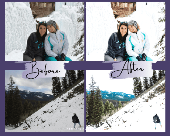 Snow White Preset Collection great for overlays, filters, or stock photos.