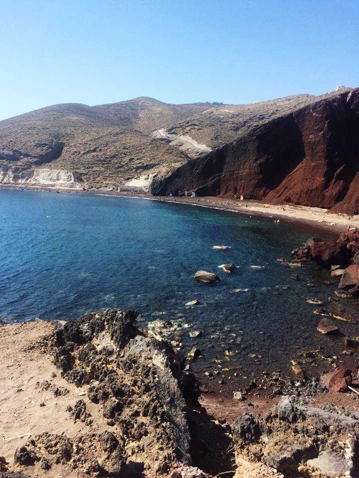 Santorini's Red Sand Beach