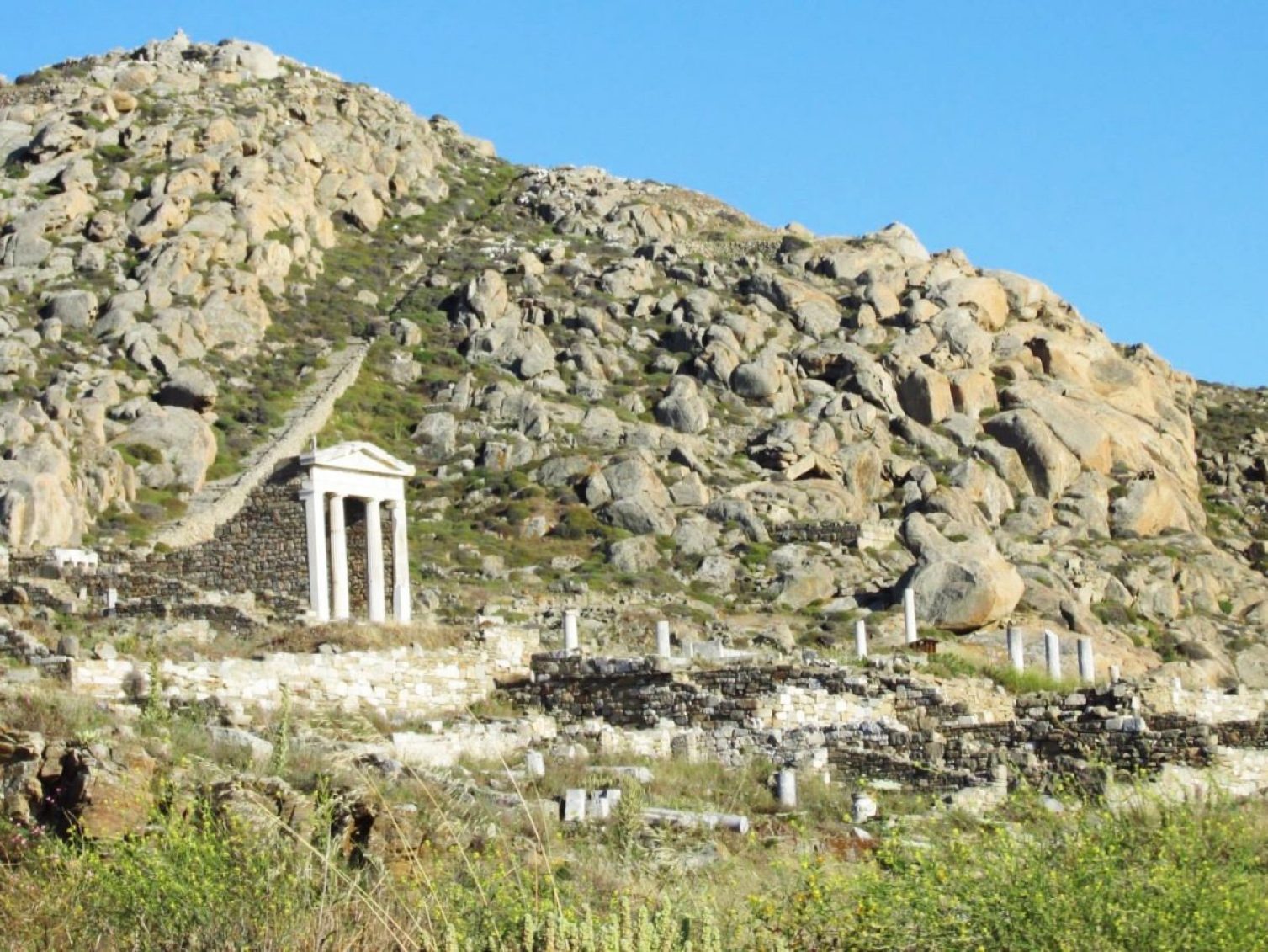 Part of the ancient site of Delos