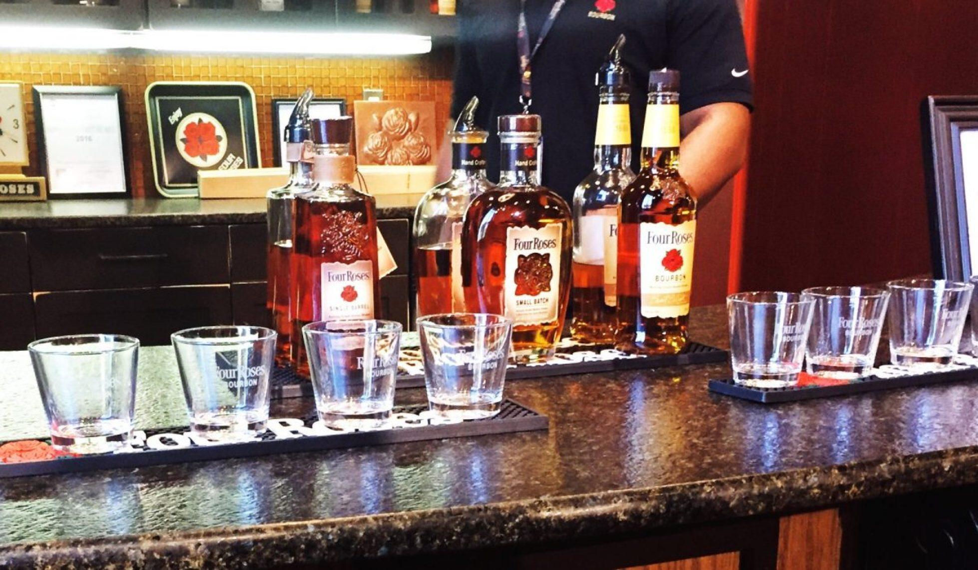 The tasting bar at Four Roses