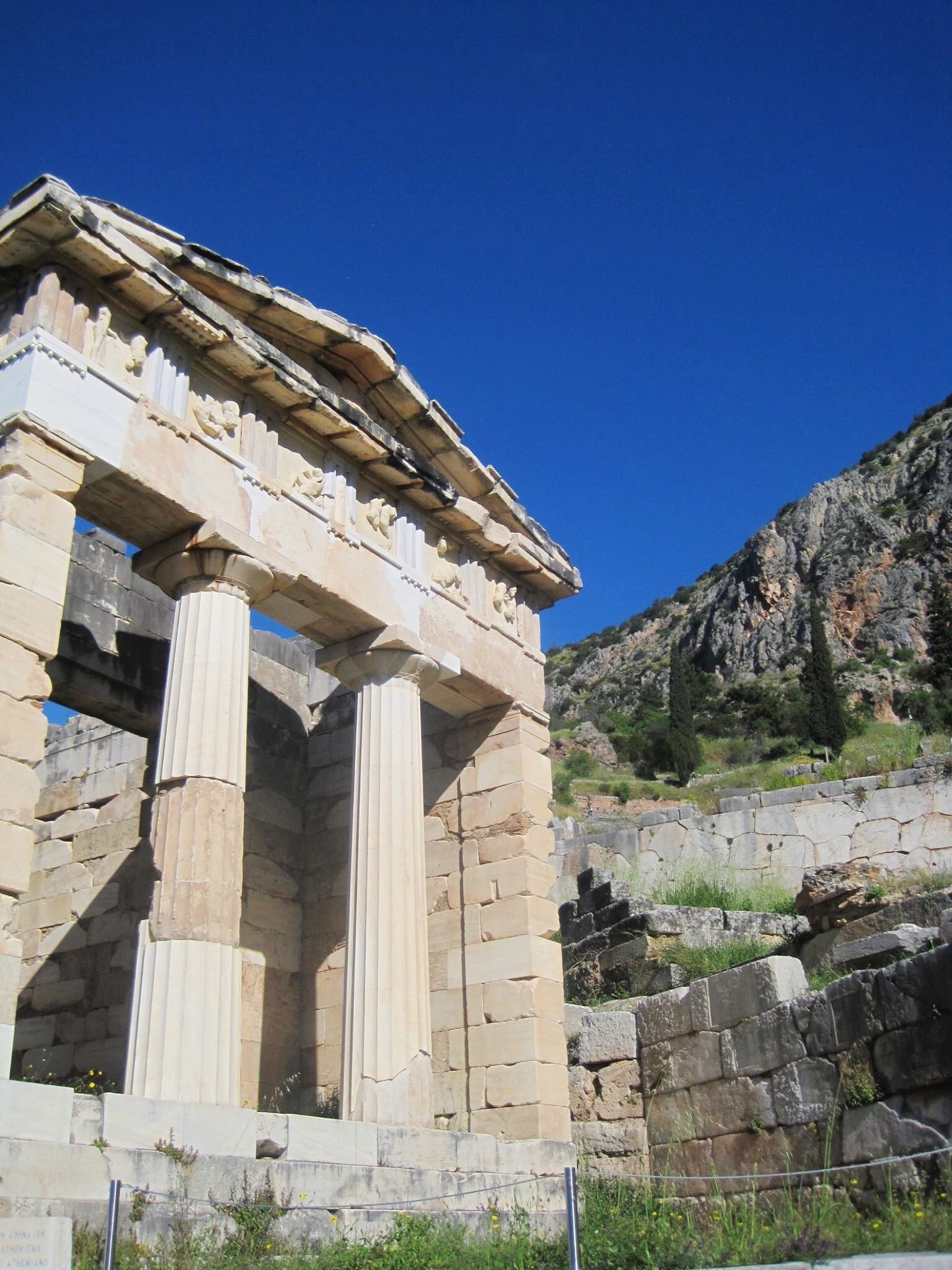 The Athenian Treasury   Delphi: The Bellybutton of the Ancient World   www.herlifeinruins.com
