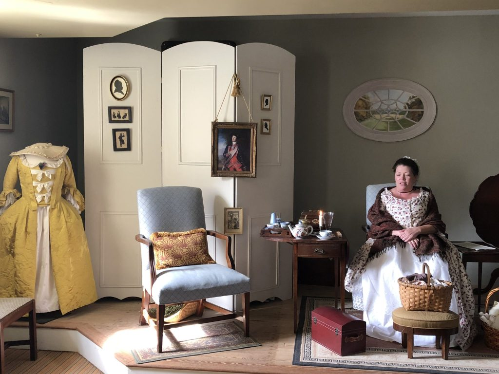 Her Life in Ruins | Young Martha Washington greets guests in the Parlor