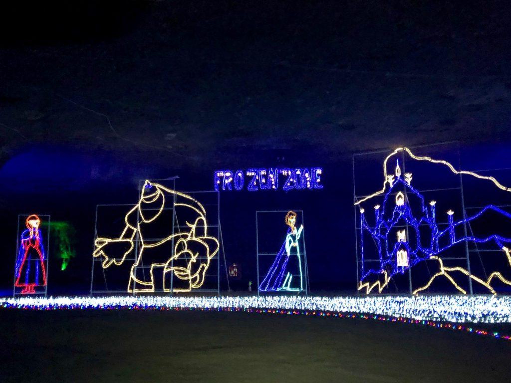 The Frozen Display at Lights Under Louisville | www.herlifeinruins.com