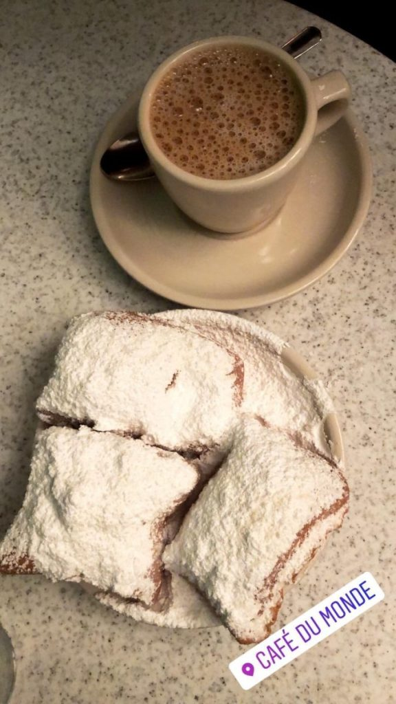 Beignets and espresso from Cafè du Monde | Living a New Orleans Dream