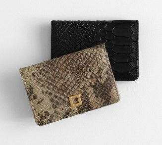 lily snakeskin card holder and mirror