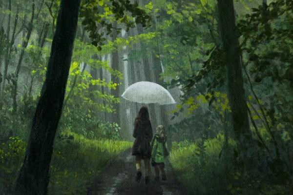 Regen in de Ardennen
