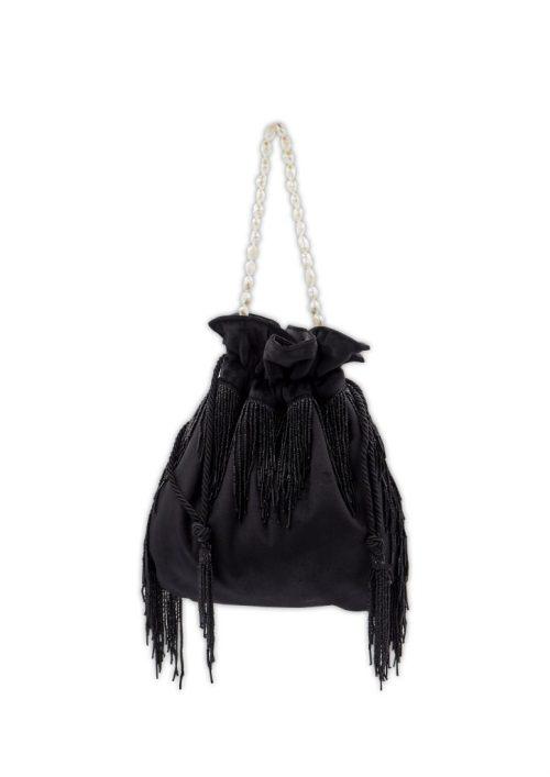 HERMINA x STYLELOVE -Medusa Bag – Large Black Velvet