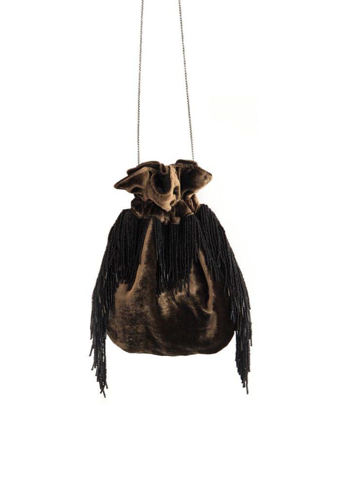 HERMINA x STYLELOVE -Medusa Bag – Small Olive Gold Velvet
