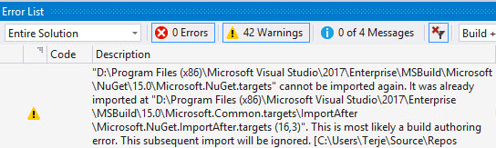 VisualStudioWarnings