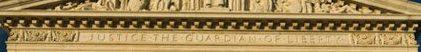 East Pediment Inscription of Supreme Court Building - Washington D.C.