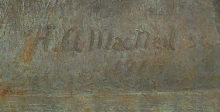 "The sculptor's signature and date on ""Pat"""