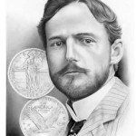 Hermon A. MacNeil Commemorative sketched by Artist Charles D. Daughtrey as the seventh work in his Series of Coin Designers is available at http://www.cdaughtrey.com/