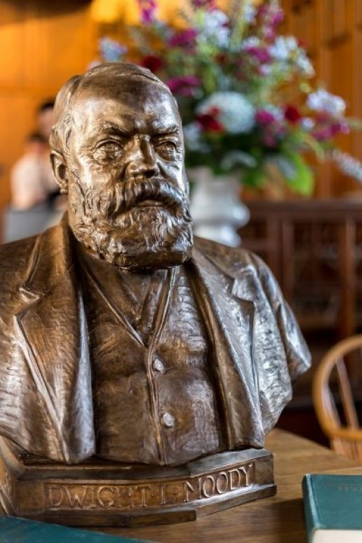 """Dwight L. Moody"" 1920 - A bust by Hermon Atkins MacNeil now graces the campus of Northfield Mount Hermon academy in Massachusetts. The school is a merger of the two separate academies (one for girls and one for boys) that Moody founded in 1879 and 1881"
