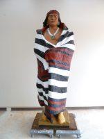 Manuelito-0-native American plaster sculpture after conservation-768×1024