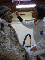 Manuelito-R1-repairing cracks in plaster sculpture