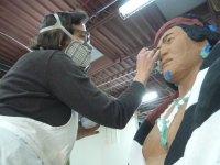 Manuelito-plaster finishing of native American sculpture