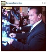 THE Arnold @Schwarzenegger has arrived!