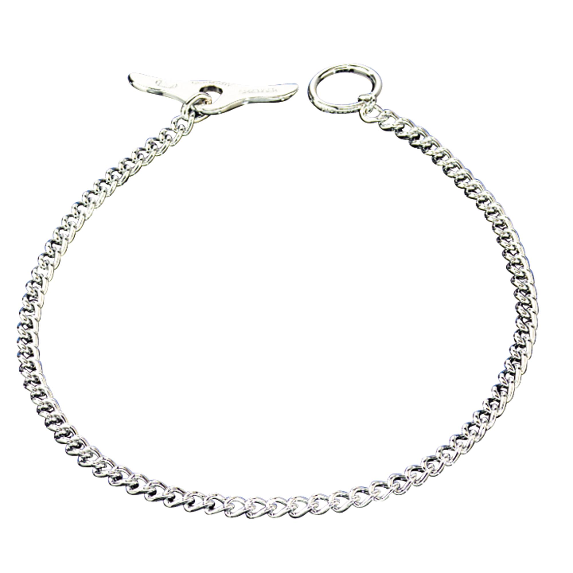 Collar With Toggle Closure Round Links Steel Chrome