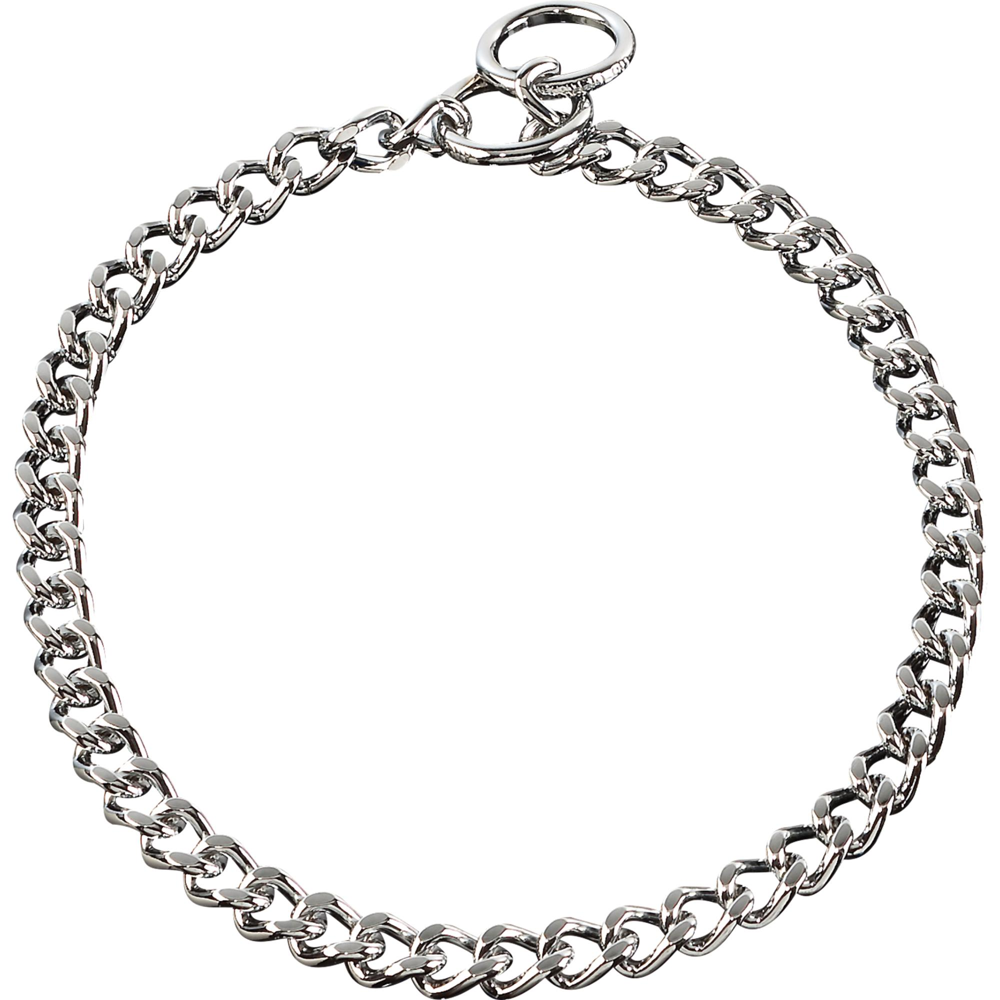 Collar Flat Polished Narrow Links Steel Chrome Plated