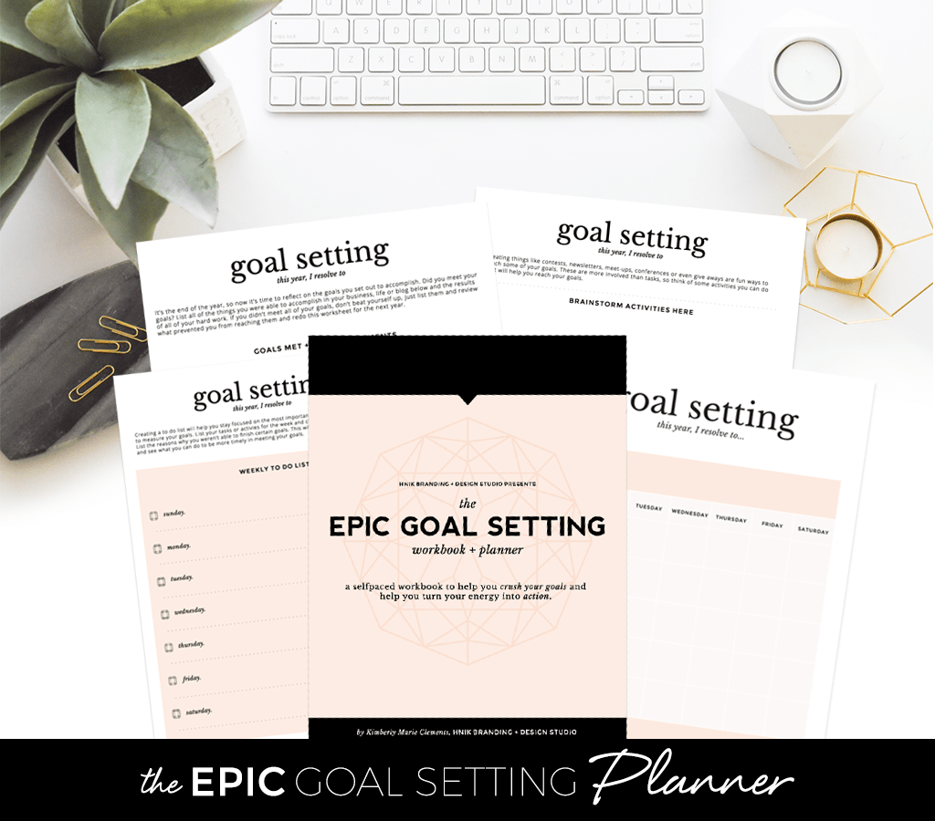 Workbooks goals workbook : Epic Goal Setting Workbook And Planner | HNIK Creative • Long ...