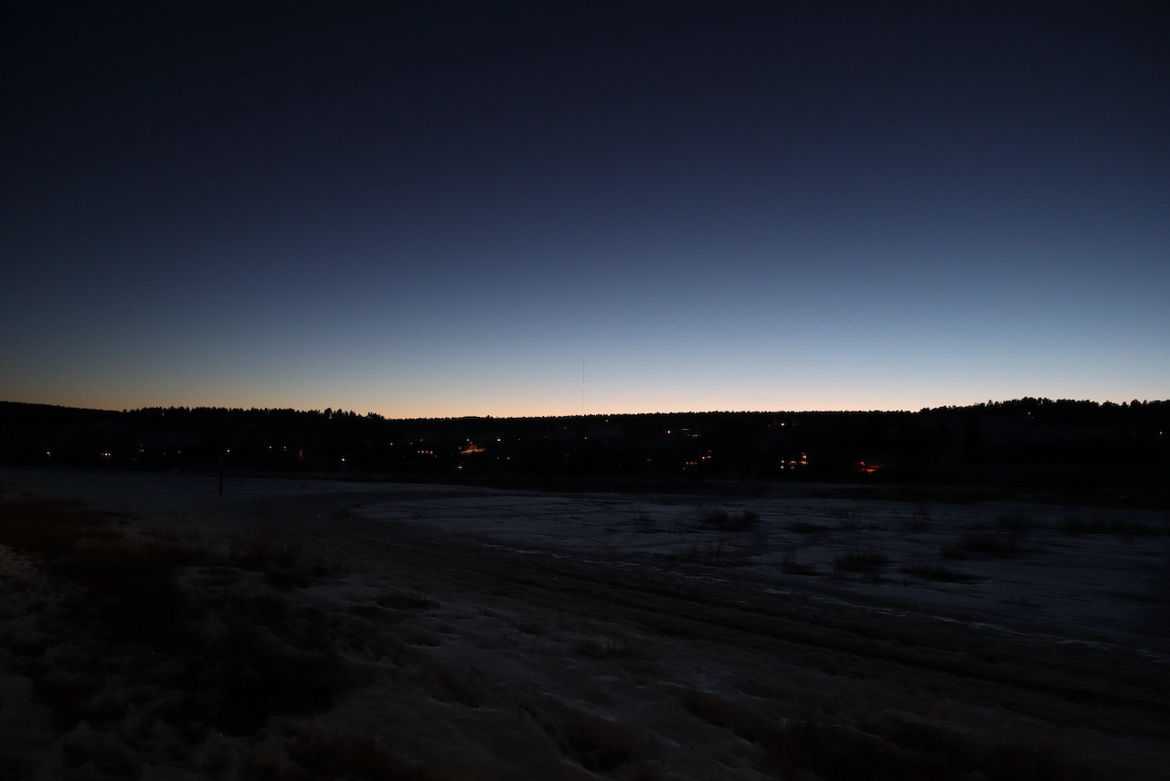 Late evening in downtown Pagosa Springs