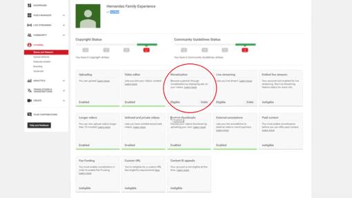 Monetization on YouTube