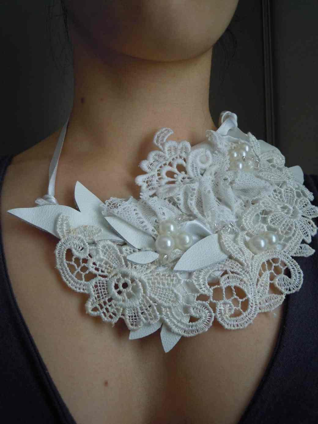 collier plastron mariage
