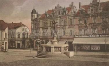 Eickeler Markt mit Hohenzollernbrunnen, 1920er Jahre, Foto Stadtarchiv Herne