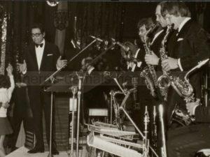 Kurt Edelhagen (links) mit Big Band in Herne, undatiert, Foto Stadtarchiv Herne