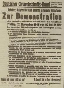 Aufruf zum Generalstreik, Repro Norbert Arndt