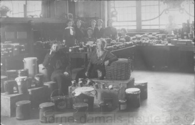 Sammlung von 'Liebesgaben' für die Frontsoldaten, Herne, undatiert, Foto Stadtarchiv Herne