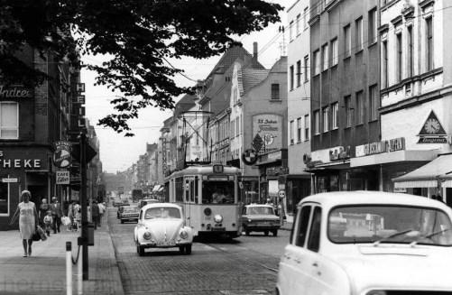 Hauptstraße in Wanne-Mitte, um 1960, Foto Stadtarchiv Herne