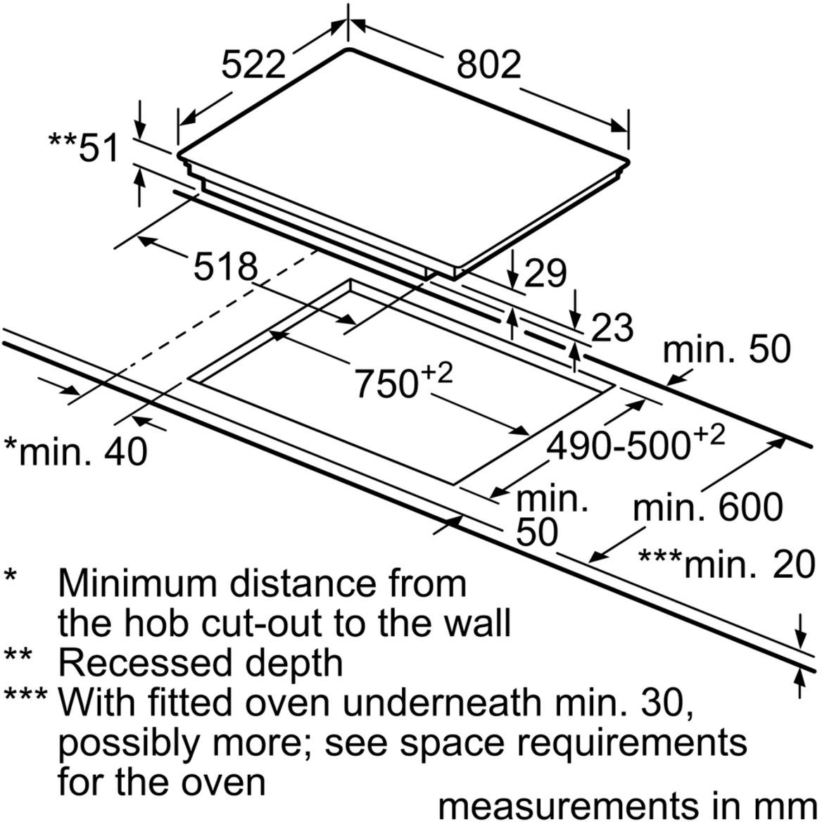 Neff T48fd23x0 Five Zone Induction Hob