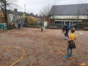 Children playing in schoolground