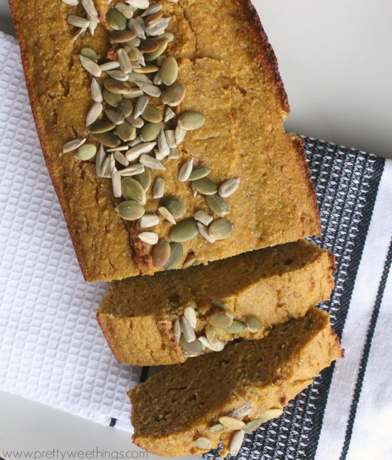 This spiced pumpkin loaf recipe would have to be one of my favourites to date and one that I keep coming back to.  Super simple to make, delicious to eat and free from dairy, gluten and sugar.