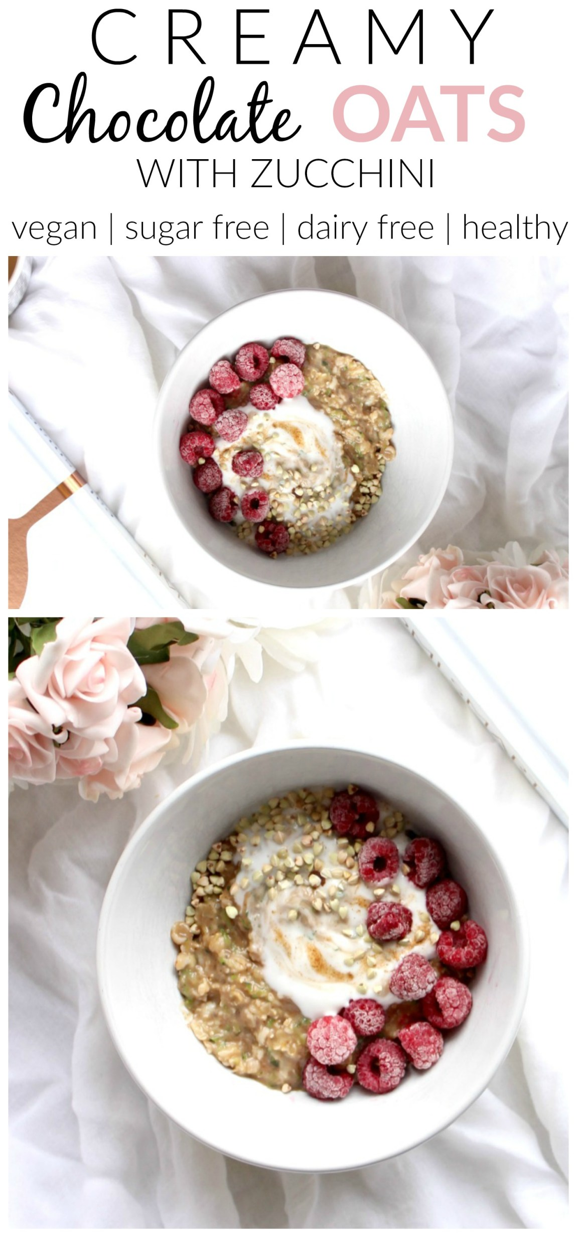 Nothing quite beats a dreamy bowl of creamy chocolate oats with zucchini in the morning. Super delicious, super nourishing and not as weird as it seems!