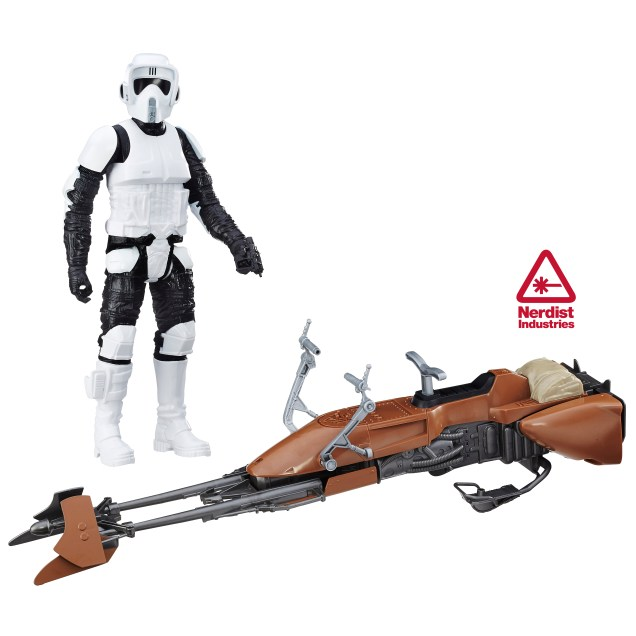 SDCC 2016 Star Wars ROTJ Speeder Bike With Biker Scout Unboxed