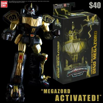 Power Morphicon 2016 Exclusive Black Gold Legacy Megazord 6 Inch