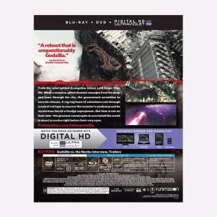 Shin Godzilla Film BD Dvd Combo UV Box Back