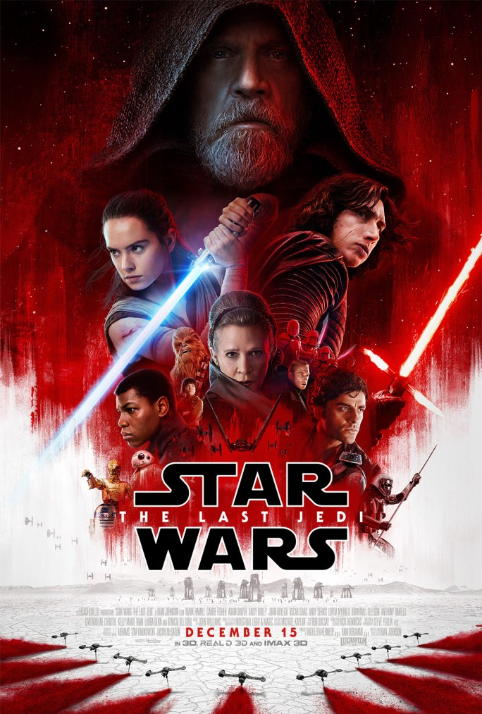 Star Wars Episode VIII The Last Jedi Theatrical Poster Star Wars Episode VIII: The Last Jedi Official Theatrical Poster Revealed
