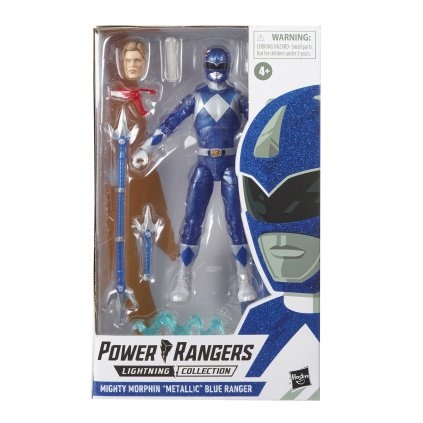 Hasbro Pulse Power Rangers Lightning Collection Metallic Blue Ranger 3