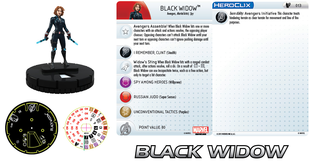 Marvel HeroClix: Age of Ultron Black Widow