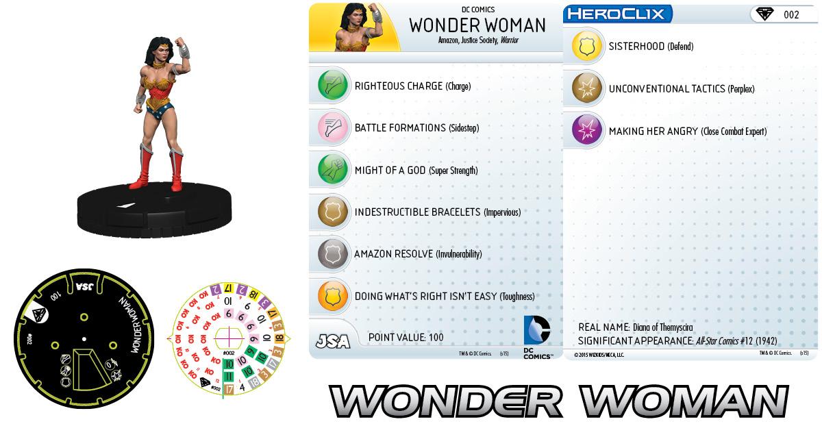 DC Heroclix Superman Wonder Woman 030 Ulysses Uncommon
