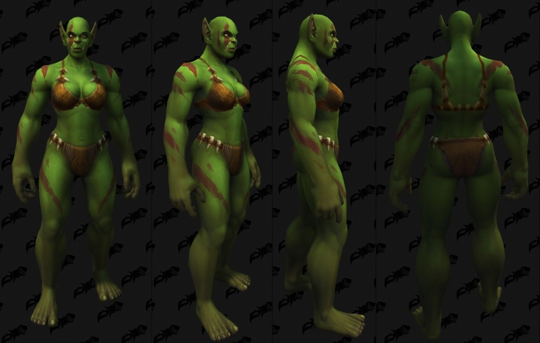 Body Tattoos - Female Orc 03