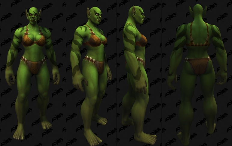Body Tattoos - Female Orc 06