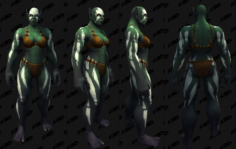 Body Tattoos - Female Orc 09