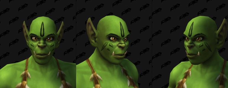 Face Tattoos - Female Orc 04