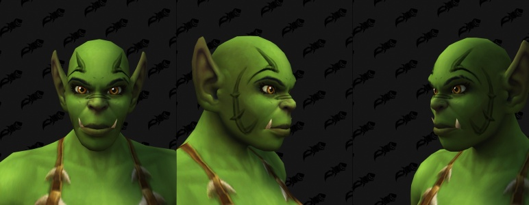 Face Tattoos - Female Orc 05