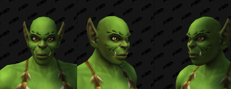 Face Tattoos - Female Orc 07